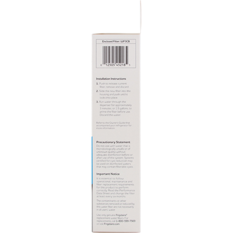 electrolux water filter replacement instructions